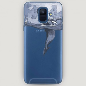 RosCase | Силиконовый чехол Два измерения на Samsung Galaxy A6 (2018)