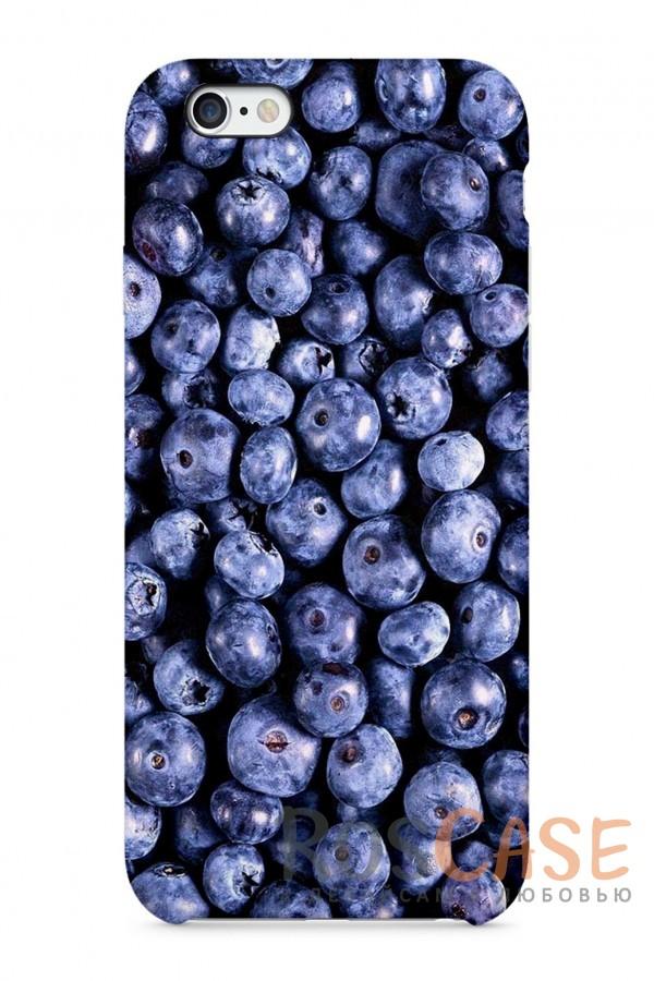 """Фото Спелая Черника Пластиковый чехол RosCase """"Еда"""" для iPhone 6/6s (4.7"""")"""