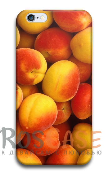 """Фото Персик Пластиковый чехол RosCase """"Фрукты"""" для iPhone 5/5S/SE"""