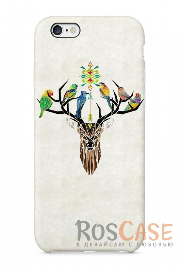 """Фото Олень Пластиковый чехол RosCase """"Лесные животные"""" для iPhone 6/6s (4.7"""")"""
