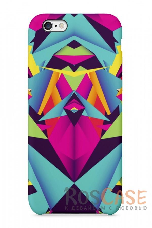 """Фото Разноцветный Узор Пластиковый чехол RosCase """"Узоры"""" для iPhone 6/6s (4.7"""")"""