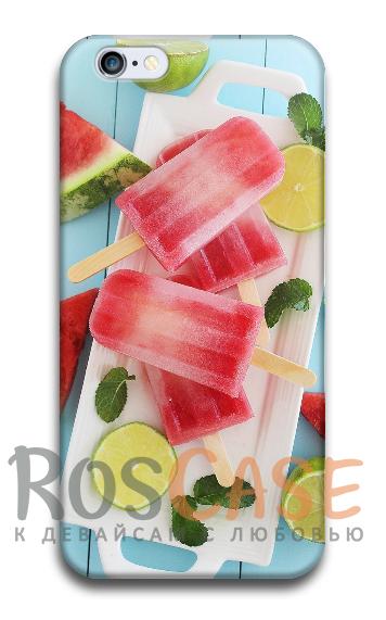 """Фото Мороженное Пластиковый чехол RosCase """"ЛЕТО!"""" для iPhone 6/6s (4.7"""")"""