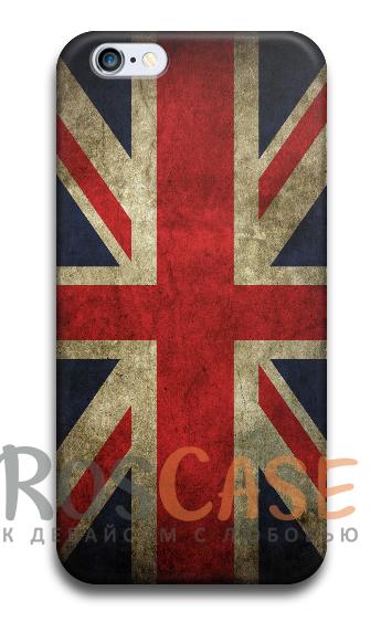 "Фото Флаг Англии Пластиковый чехол RosCase ""Флаги"" для iPhone 6/6s plus (5.5"")"