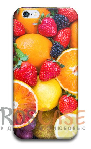 """Фото Фруктовый микс Пластиковый чехол RosCase """"Фрукты"""" для iPhone 5/5S/SE"""