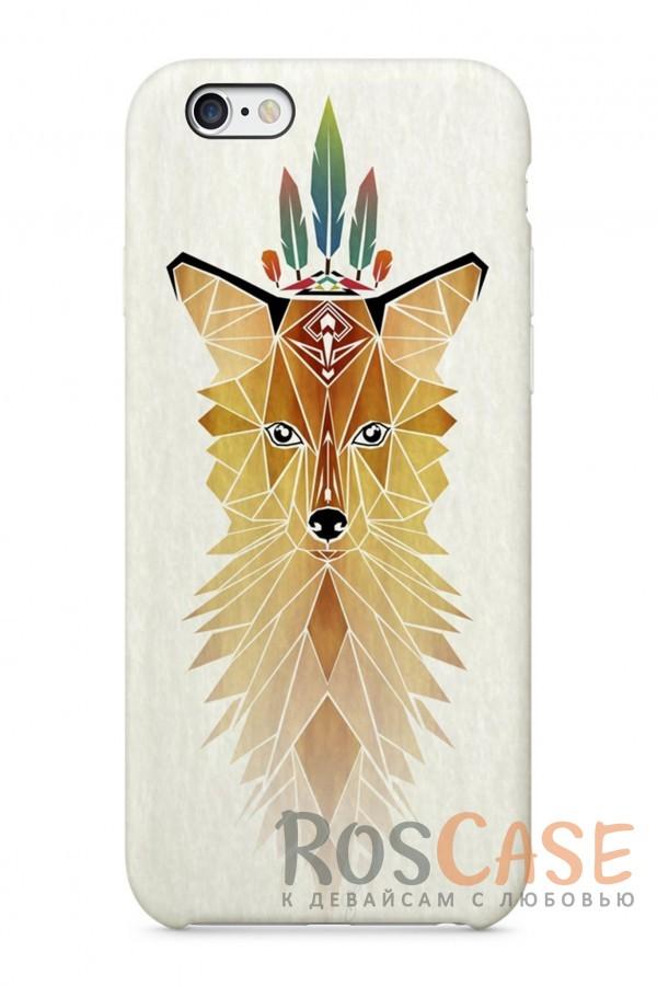 """Фото Лис Пластиковый чехол RosCase """"Лесные животные"""" для iPhone 6/6s (4.7"""")"""