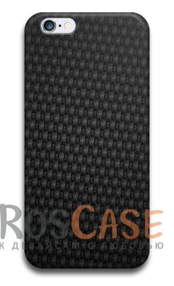"""Фото Carbon №2 Пластиковый чехол RosCase с 3D нанесением """"Карбон"""" для iPhone 4/4S"""