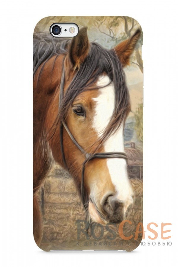 "Фото Пластиковый чехол RosCase ""Лошади"" для iPhone 6/6s (4.7"")"