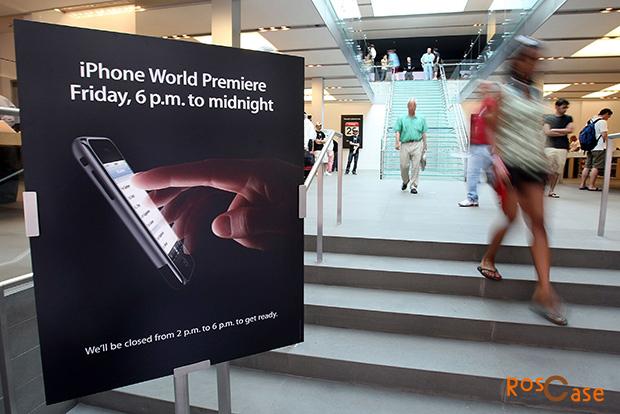 фото постера мировая премьера Apple Iphone в 2007 году