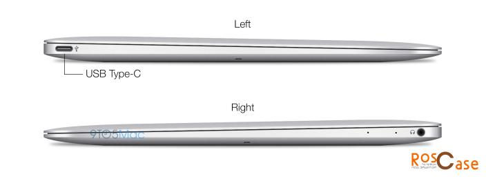функциональные разъемы ноутбука Apple MacBook Air Stealth с левой и правой стороны с описанием