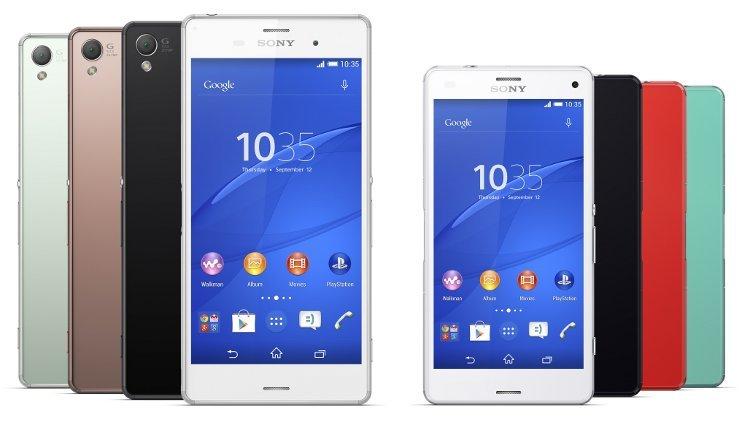 смартфоны Sony Xperia Z3 и Xperia Z3 Compact размеры