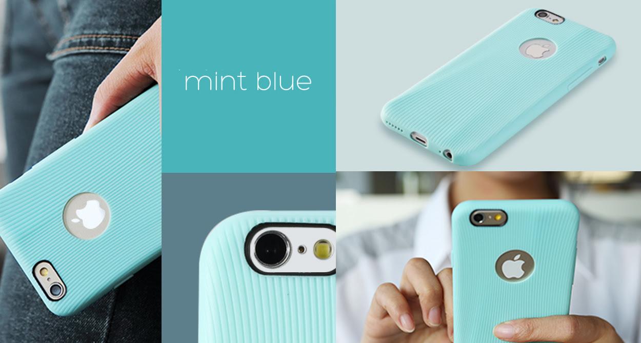 голубой TPU чехол Rock Melody Series для iPhone 6 фото 2