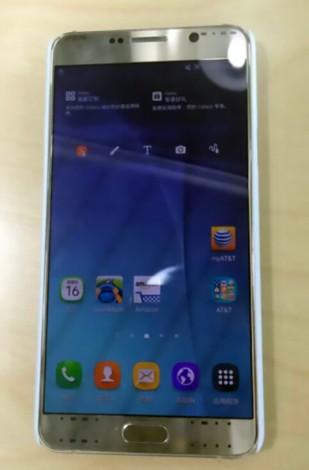 Новые фото Samsung Note 5 золотистый