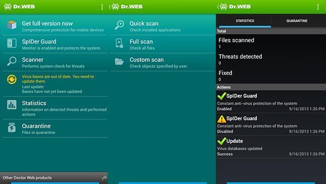 Dr. Web Antivirus для Android