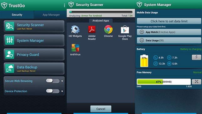 Antivirus and Mobile Security от компании TrustGo