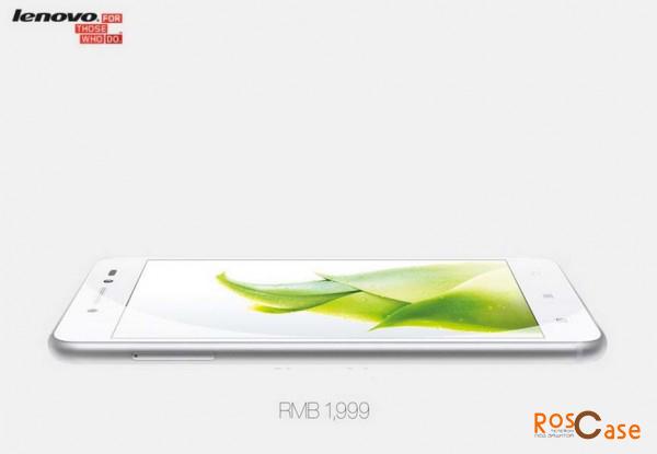 угловой вид нового смартфона Леново S90 Sisley с логотипом компании