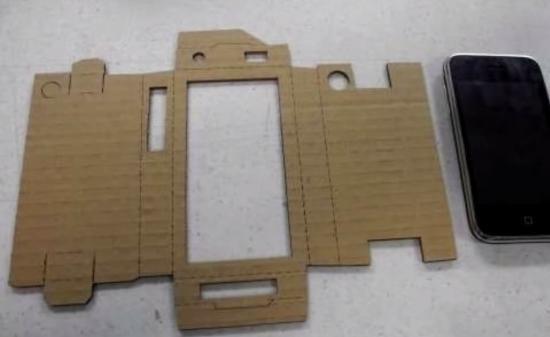 Как сделать своими руками чехол для телефона из картона