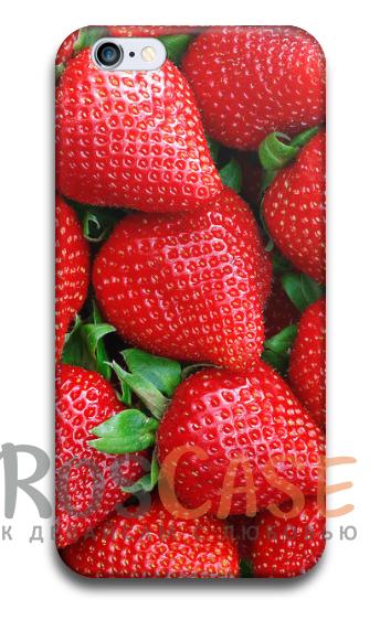 """Фото Клубника Пластиковый чехол RosCase """"Фрукты"""" для iPhone 5/5S/SE"""