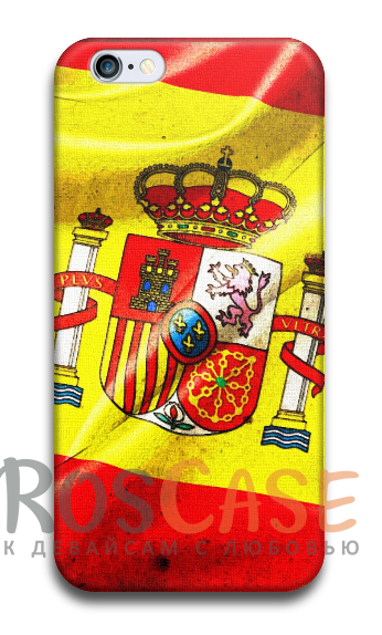 "Фото Флаг Испании Пластиковый чехол RosCase ""Флаги"" для iPhone 5/5S/SE"