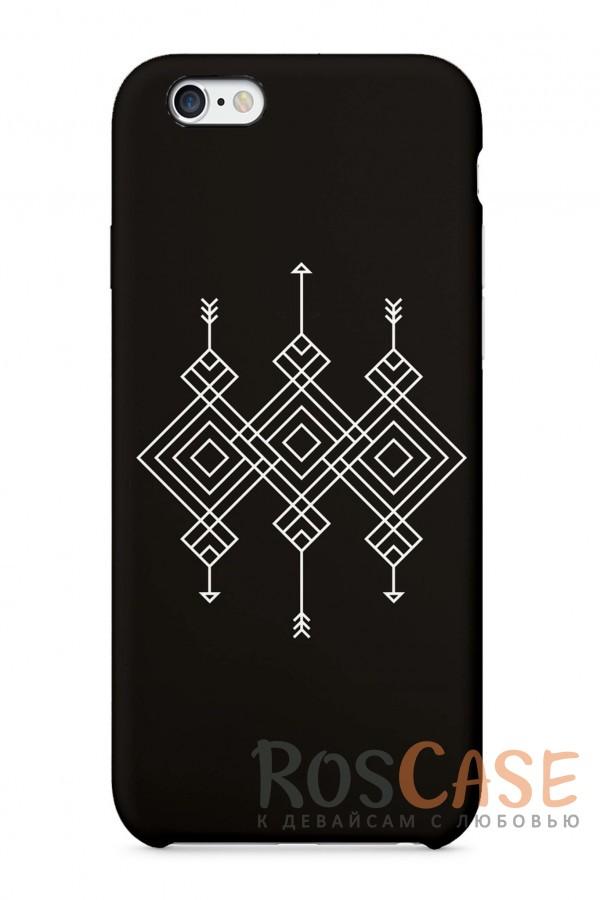 """Фото Узоры на Черном Пластиковый чехол RosCase """"Узоры"""" для iPhone 6/6s (4.7"""")"""