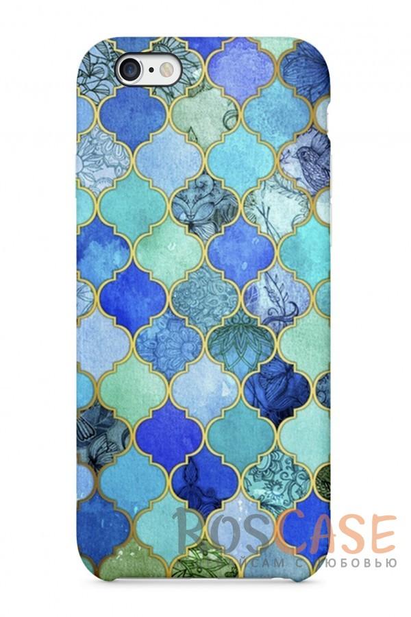 """Фото Голубой Узор Пластиковый чехол RosCase """"Узоры"""" для iPhone 6/6s (4.7"""")"""