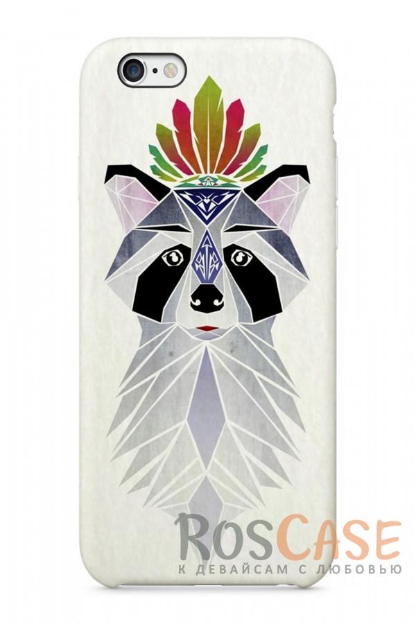 """Фото Енот Пластиковый чехол RosCase """"Лесные животные"""" для iPhone 6/6s (4.7"""")"""